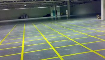 Лента клейкая пвх для разметки пола желтая 150мм х 33м