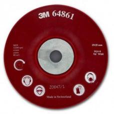 64861 Оправка для фибровых кругов, 125 мм х 22 мм, ребристая, M14.
