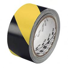 3M 766I сигнальная клейкая лента чёрно-жёлтая, для маркировки и разметки