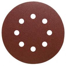 Шлифовальный круг самозацепляемый PS 22 K, 125 мм, 8 отверстий на бумажной основе