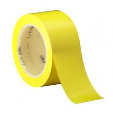 3m 471 - Лента напольная разметочная для разметки пола, желтая.