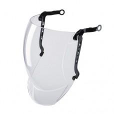 Прозрачный лицевой щиток с крепежными направляющими