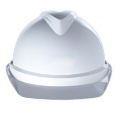 Каска защитная V-Gard 500, с вентиляцией. Оголовье Fas-Trac III с храповиком со вшитой налобной лентой из ПВХ