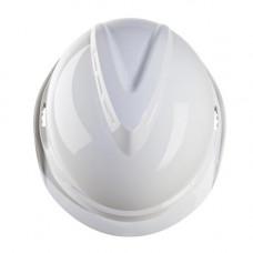 Каска защитная V-Gard 520, без вентиляции. Ленточное оголовье Push-Key со сменной налобной лентой из вспененного материала