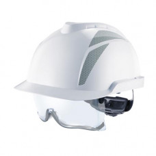 Каска защитная V-Gard 930, FasTracIII, с вентиляцией. C серыми световозвращающими наклейками.
