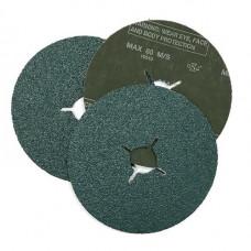 RoxelPro Фибровый шлифовальный круг ROXTOP 180 х 22мм, цирконат, Р36