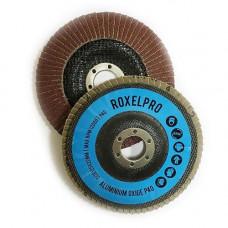 RoxelPro Лепестковый круг ROXONE 125 х 22мм, оксид алюминия, конический, Р40