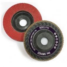 RoxelPro Лепестковый круг ROXPRO 125 х 22мм, Trimmable, керамика, конический, Р40