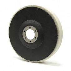RoxelPro Фетровый полировальный круг на оправке 125 х 20 х 22мм, мягкий