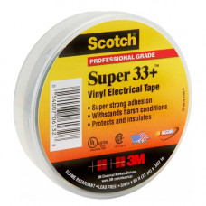 Scotch Super 33+ изоляционная лента высшего класса, 19мм х 20м х 0,18мм.