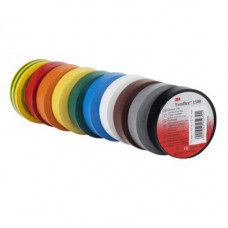 Temflex 1300, разноцветная, универсальная изоляционная лента, 15мм х 10мх 0,13мм