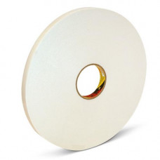 9508W лента монтажная двухсторонняя, вспененная, 19 мм, белая.