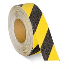 3M противоскользящая лента универсальная средней зернистости, желто-черная, 50 мм х 20 м.